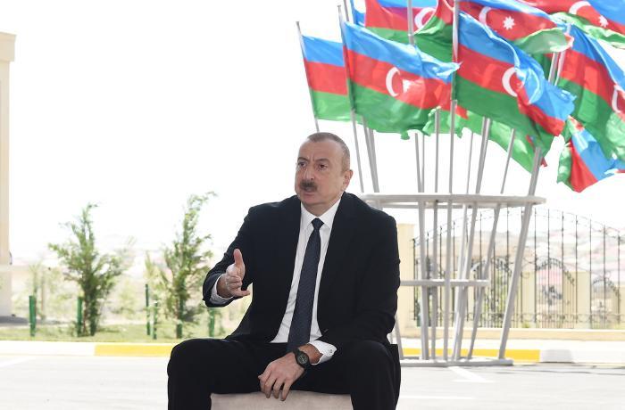 İlham Əliyev Azərbaycan Xalq Cümhuriyyətindən danışdı