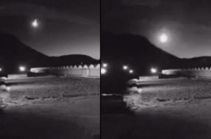 Ermənistana meteor düşdü – Böyük partlayış olub – VİDEO