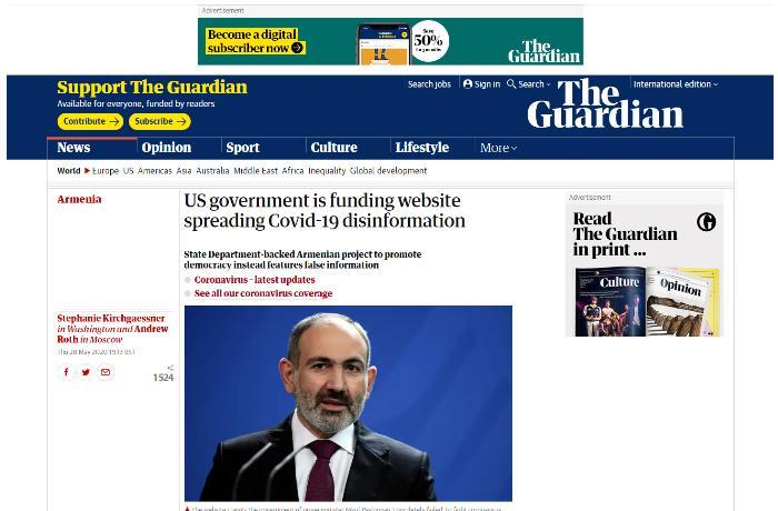 """""""The Guardian"""" qəzeti Ermənistandan yazıb - Dezinformasiya yayırlar…"""
