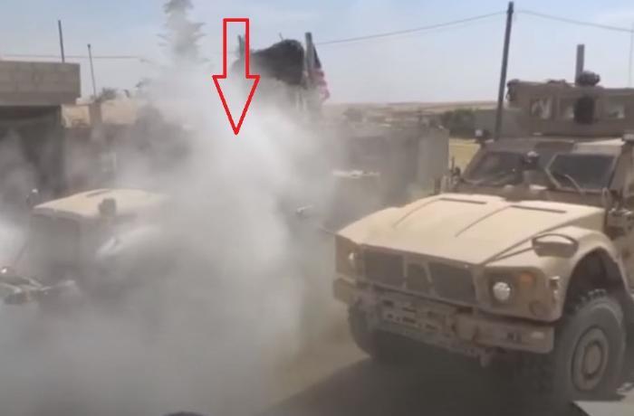 Rus patrullarını yoldan çıxarmağa çalışan ABŞ hərbi texnikasına görün nə ol ...