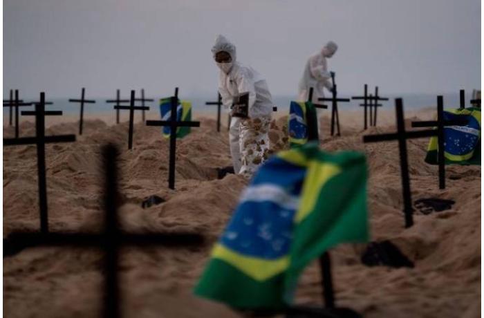 Braziliyada koronavirusdan ölüm halları durmadan artır