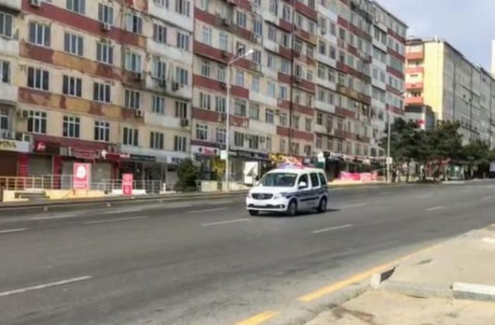 """Polis səsucaldanlar vasitəsilə xəbərdarlıq anonsu edir: """"Evdə qalın..."""" – VİDEO"""