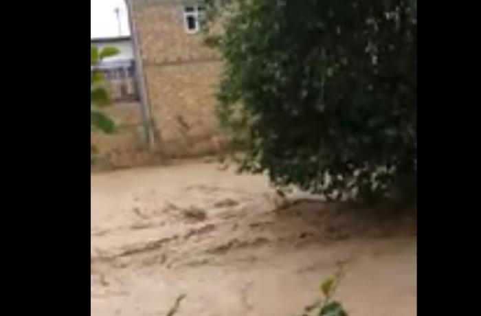 Qobustanda kənd sel suları altında qaldı - VİDEO