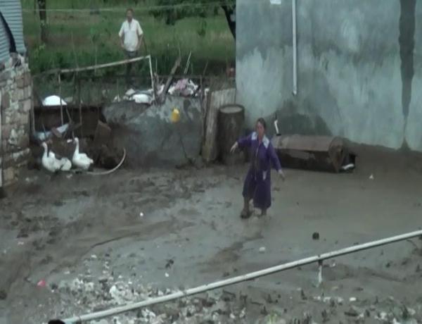 Güclü yağış Goranboyda selə səbəb olub