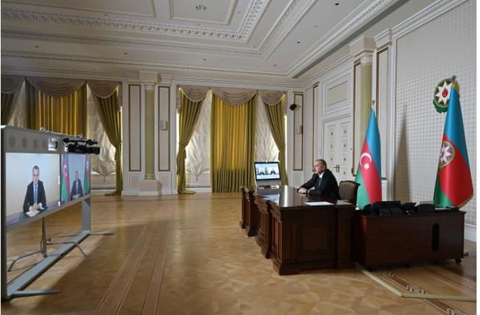 Prezident İlham Əliyev yeni Xarici İşlər nazirini qəbul edib - VİDEO