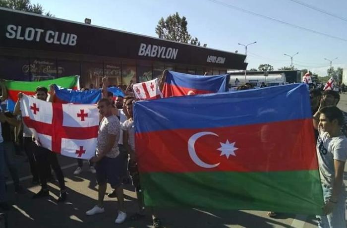 Gürcüstanda Azərbaycana dəstək aksiyası keçirilib