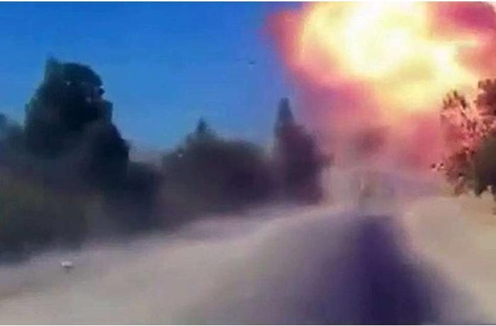 Rus patrul avtomobilinin Suriyada partladılmasının yeni GÖRÜNTÜLƏRİ