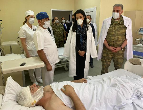 Azerbaijani Ombudsman visits servicemen injured in battles in the Tovuz direction