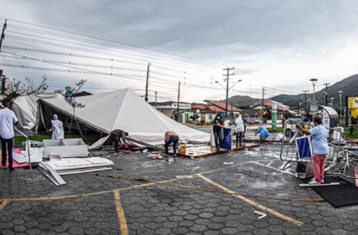 Brezilya'nın güneyini fırtına vurdu: 10 ölü
