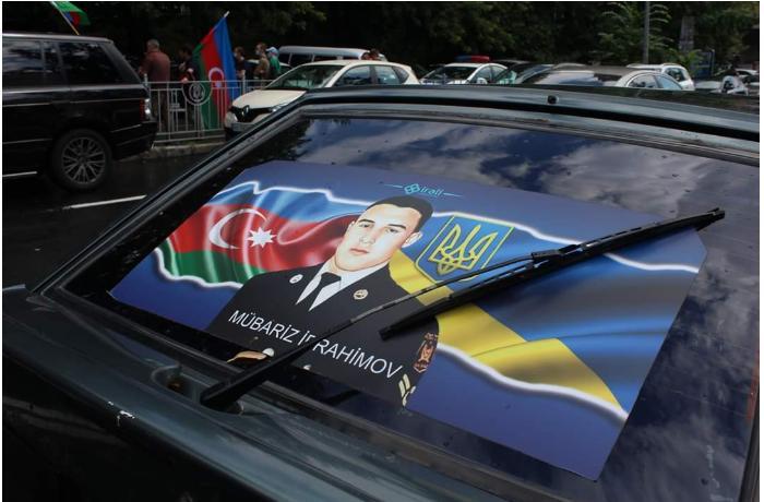 Kiyevdə soydaşlarımız BMT-dən cavab tələb ediblər - FOTOLAR