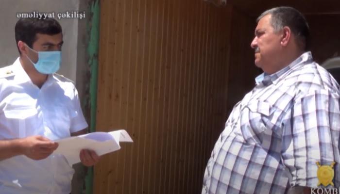 Orkestr rəhbərinin ifşa edilməsi ilə bağlı əməliyyatın görüntüləri yayıldı - VİDEO