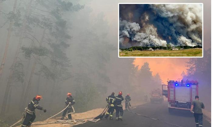 Ukraynada meşə yanğınında 6 nəfər öldü - VİDEO