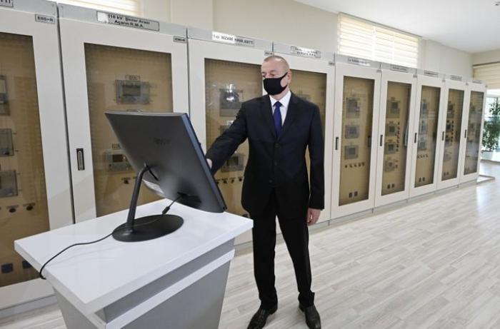 Prezident Bakıda yenidən qurulan yarımstansiyasının açılışında iştirak edib - YENİLƏNİB - FOTOLAR