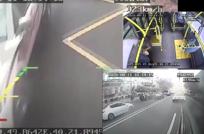 Bakıda avtobuslar minik avtomobilləri tərəfindən vuruldu –