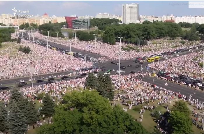 Belarusda etiraz aksiyaları davam edir - VİDEO