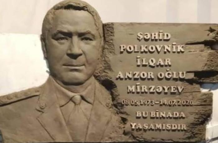 Şəhid polkovnik İlqar Mirzəyevin büstü hazırlandı - FOTO