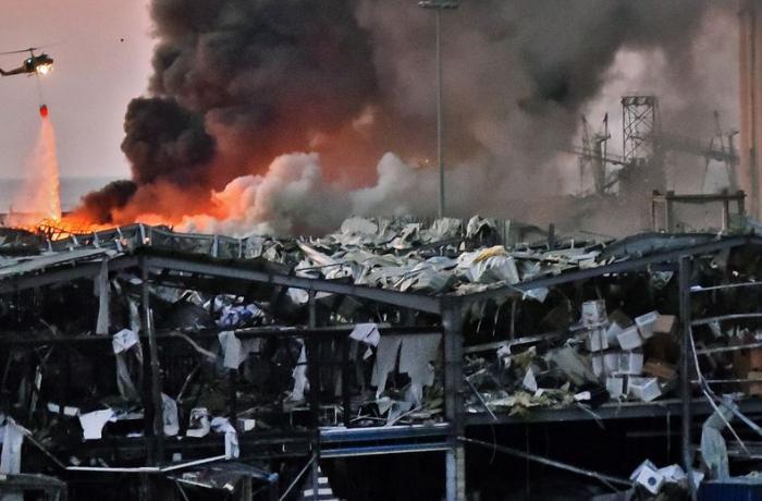 Beyrut partlayışdan sonra - VİDEO