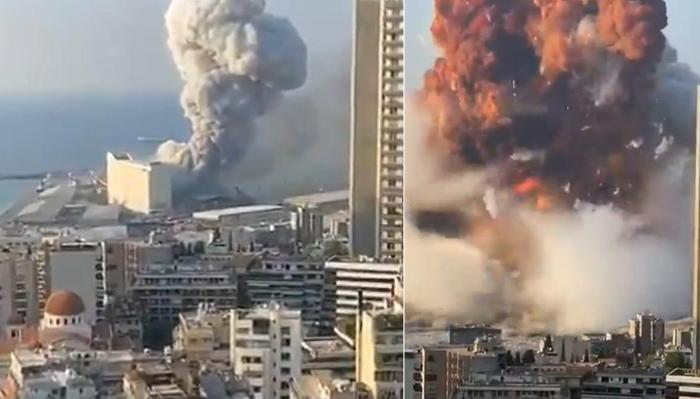 Beyrutda güclü partlayış baş verib - VİDEO