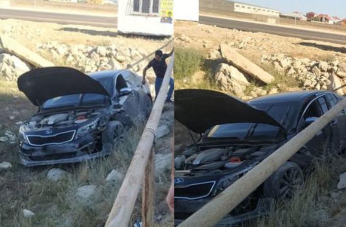 Zabrat-Kürdəxanı yolunda iki avtomobil toqquşub