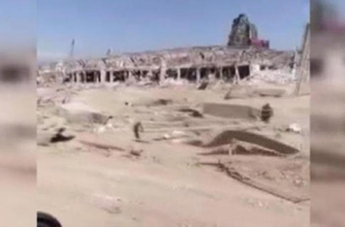 Beyrut limanının partlayışdan sonrakı halı – VİDEO