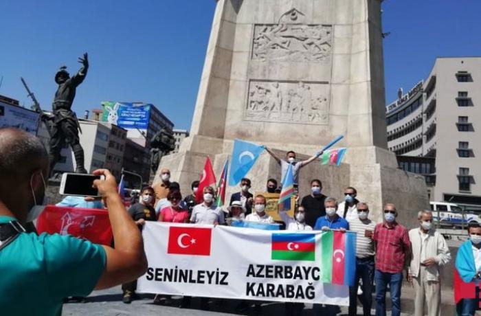 Ankarada Azərbaycana dəstək aksiyası keçirilib