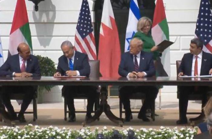İsrail-BAE-Bahreyn arasındaki 'normalleşme' anlaşması imzalandı