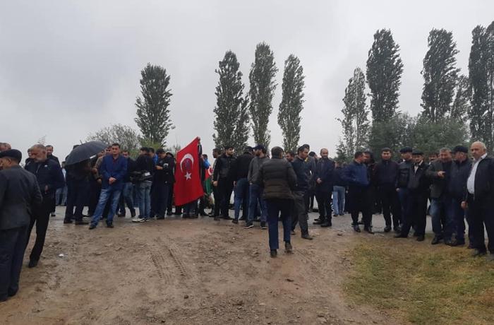 Şəhid çavuşla vida mərasimi keçirilir