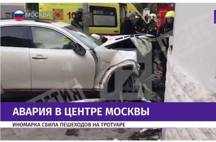 Moskvada ağır qəza - Azərbaycanlı müğənni üç nəfəri xəstəxanalıq etdi - FOTO + VİDEO