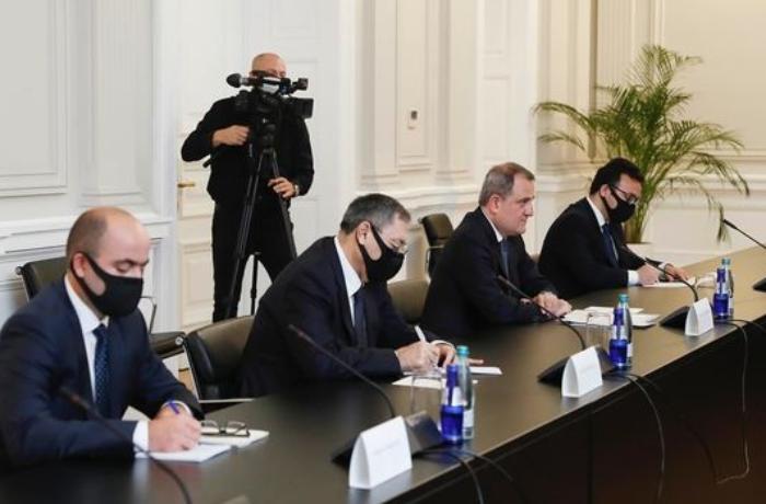 Gürcüstan Prezidenti Ceyhun Bayramovla görüşüb - FOTO