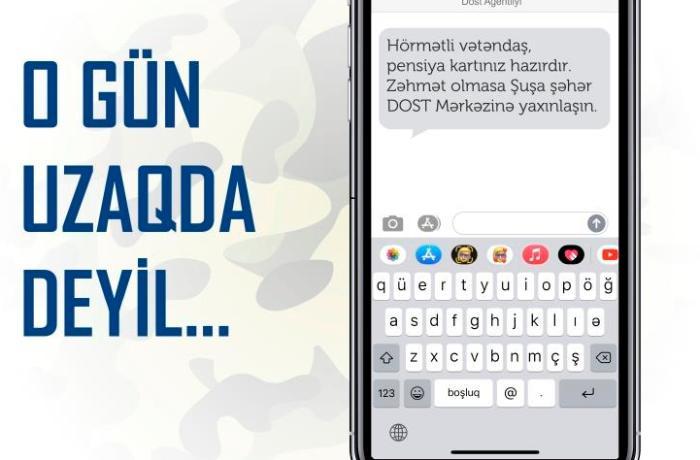 """""""Zəhmət olmasa Şuşa şəhər DOST Mərkəzinə yaxınlaşın"""" – FOTO"""