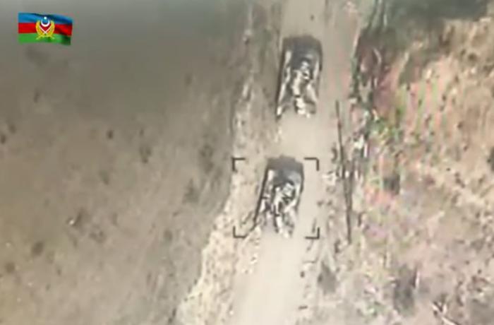 Cəbrayıl rayonu istiqamətində düşmən tankları məhv edilib - VİDEO