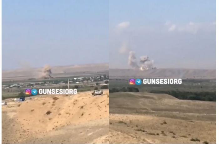 Ordumuzun uğurlu zərbələri Cənubi Azərbaycandan belə görüntüləndi - VİDEO