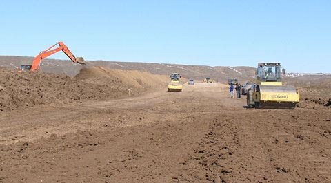 Реализуется проект по строительству автодороги Гадрут-Джебраил-Шукюрбейли