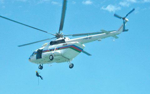 Balakən və Zaqatalada çaylar daşıb, ərazilərə helikopter cəlb edilib