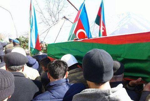 Azərbaycan ordusunun şəhid hərbçisi dəfn edildi - FOTO