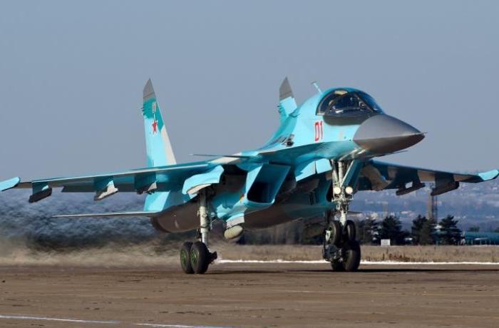 Rusiyanın Su-34 qırıcı təyyarəsi qəzaya uğradı