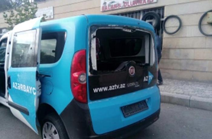 Ermənilər AzTV-nin maşınını vurdu, sürücü yaralandı - VİDEO + FOTOLAR