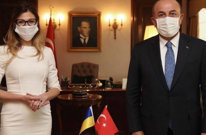 Dışişleri Bakanı Çavuşoğlu, Ukrayna Dışişleri Bakan Yardımcısı Ceppar'ı kabul etti