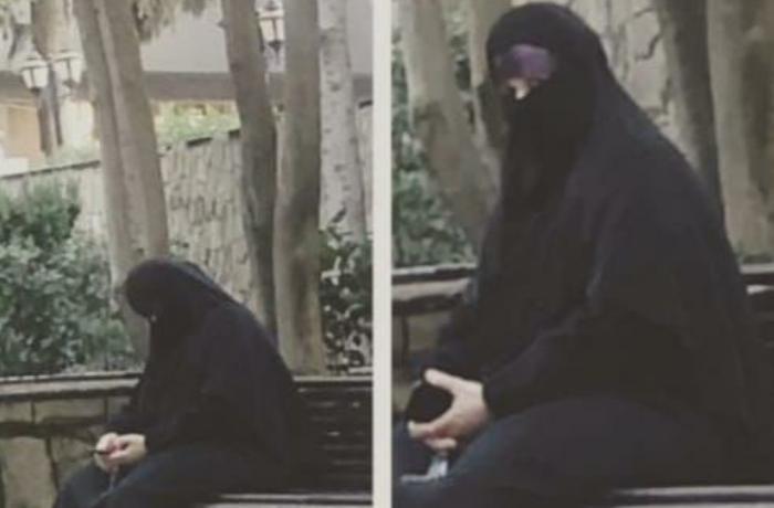 Bakı polisi İzmir parkındakı qara niqablı şəxsin kimliyini müəyyənləşdirdi