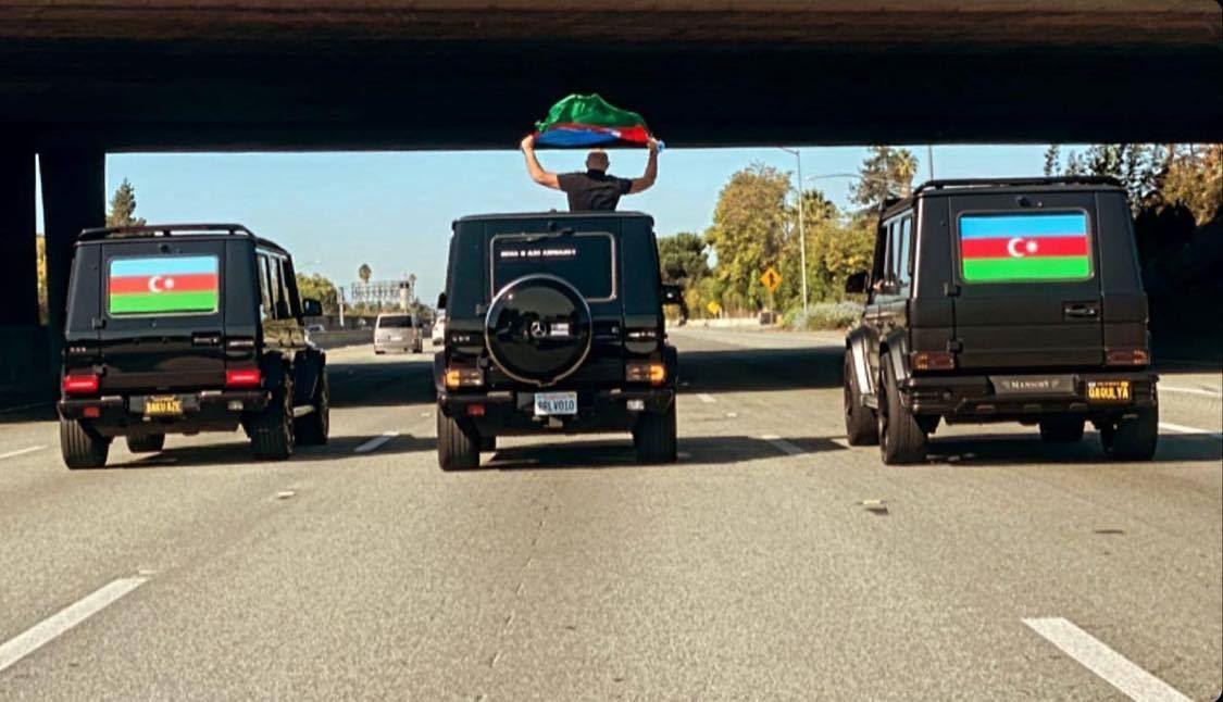 Kaliforniyada Azərbaycan ordusuna dəstək aksiyası - FOTO
