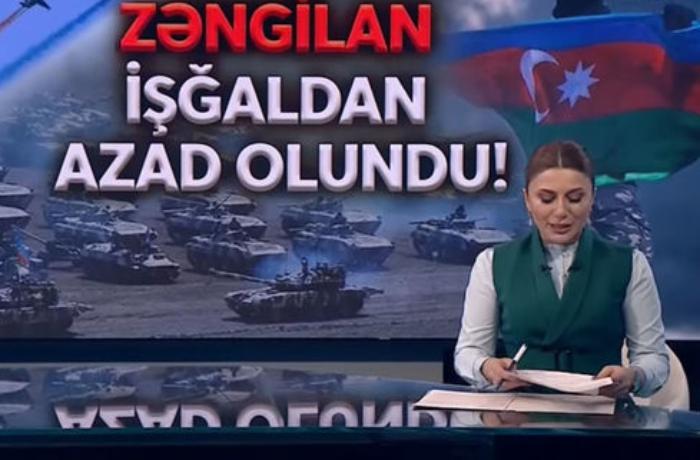 Aparıcı Zəngilanın işğaldan azad olunması xəbərini sevinc göz yaşları ilə təqdim etdi - VİDEO