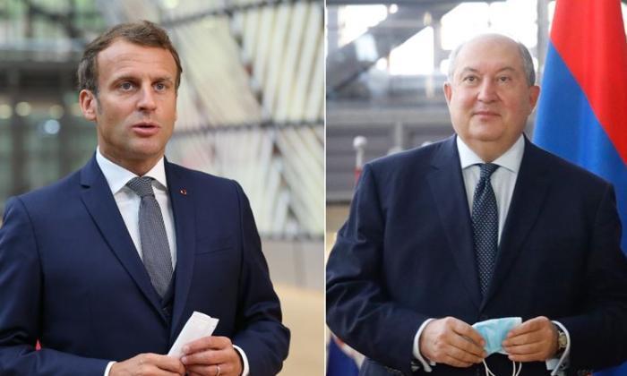 Makron Ermənistan prezidenti ilə görüşdü