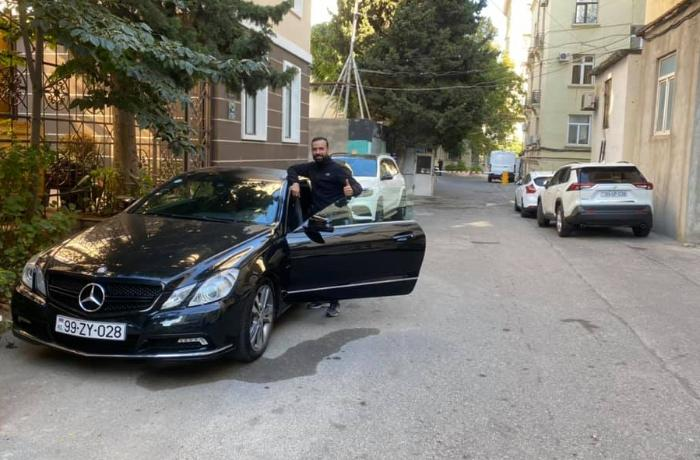 """Hərbçiyə xəyallarındakı """"Mercedes""""i alan Novruzi onunla görüşdü - FOTO"""