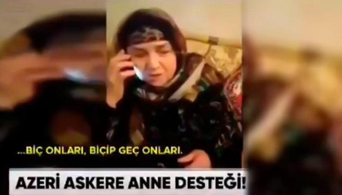 Cəbhədəki nəvəsini telefonda ruhlandıran nənə Türkiyə mətbuatında – VİDEO