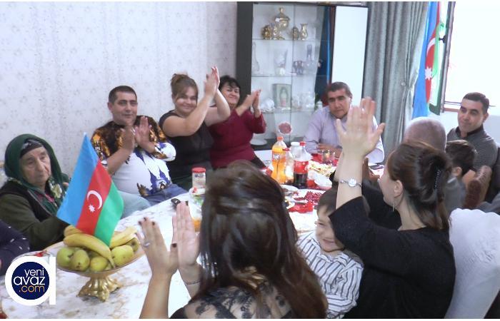 Qubadlı sakinlərinin QƏLƏBƏ SEVİNCİ - VİDEO