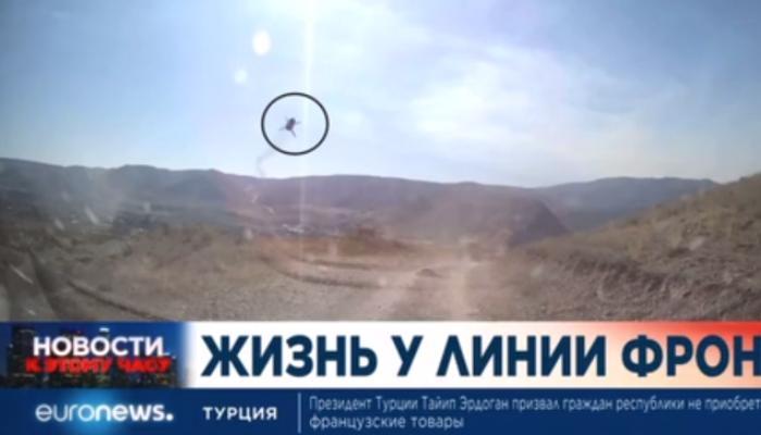 """Ermənistan Talış və Suqovuşanda """"Euronews""""un çəkiliş qrupunu raket atəşinə tutdu - VİDEO"""