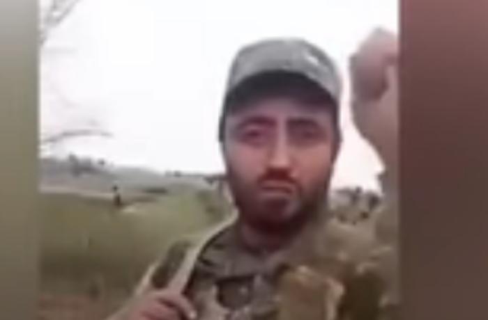 """Erməni əsgərləri qaçır: """"Yiyəsizik! """"Roqatka"""" ilə deyirlər ki, gedin döyüşün!"""" - VİDEO"""