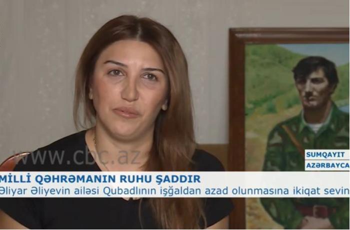 """Əliyar Əliyevin qızı: """"Bərxudarovun """"Tikanlı zəmi""""yə qələbə bayrağı sancmasını gözləyirik"""" - VİDEO"""