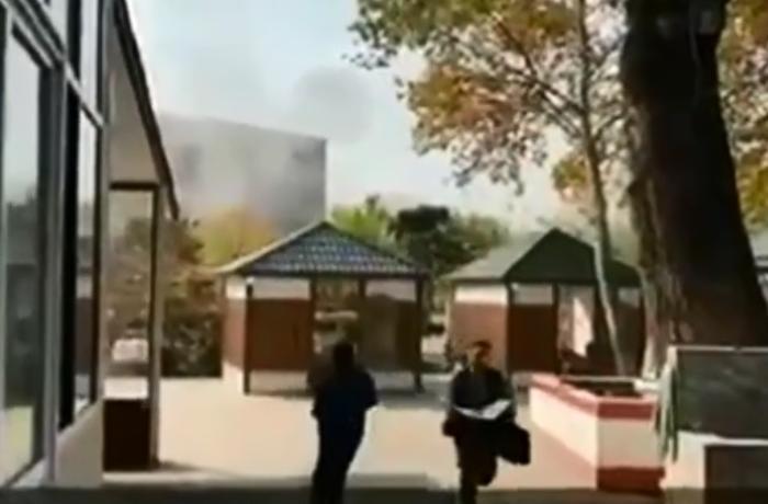 Опубликованы кадры вражеской атаки на Барду - ВИДЕО