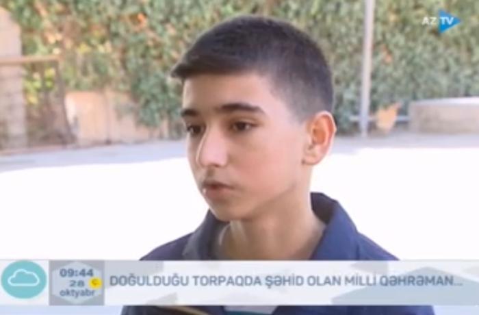"""Milli Qəhrəmanın oğlu: """"İstəyi o idi ki, Qubadlıda şəhid olsun"""" – VİDEO"""